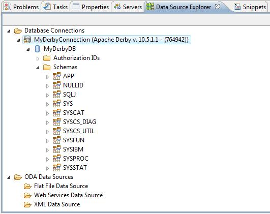 Database Development Using the Eclipse IDE, Derby with